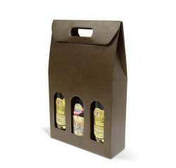 Kartónový box na 3 fľaše