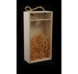 Drevený box na 2 fľaše - plexi
