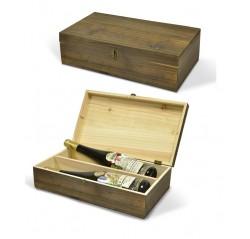 Drevený box na 2 fľaše
